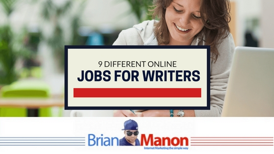 9 Different Online Jobs for Writers