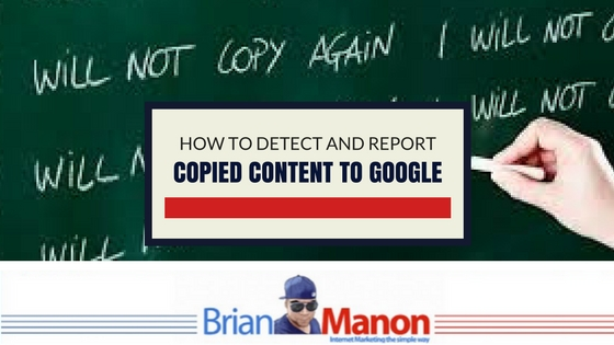 How to detect and report copied content to Google