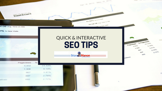 Quick & Interactive SEO Tips That Are HUGE